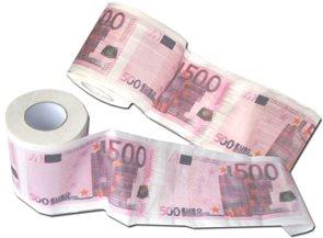 Toaletní papír 500 EUR