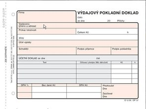 Výdajový pokladní doklad A6(100 listů)