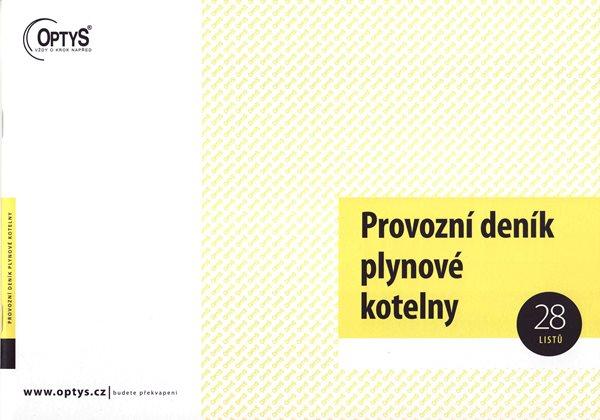 Provozní deník plynové kotelny - Nepropisující tiskopis. Blok 28 listů. Formát A4. Žlutá obálka. Neč