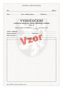 Vysvědčení o ukončení kursu pro získání základního vzdělání list A (slovní hodnocení)
