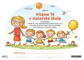 Vítáme Tě v mateřské škole (pamětní list)