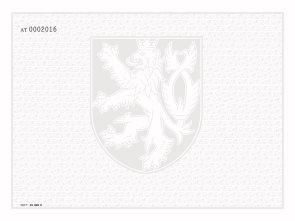 Bianco diplom, výuční list, VOŠ a konzer.- malý státní zn. + lip. listy, číslování, pro tisk QR kódu