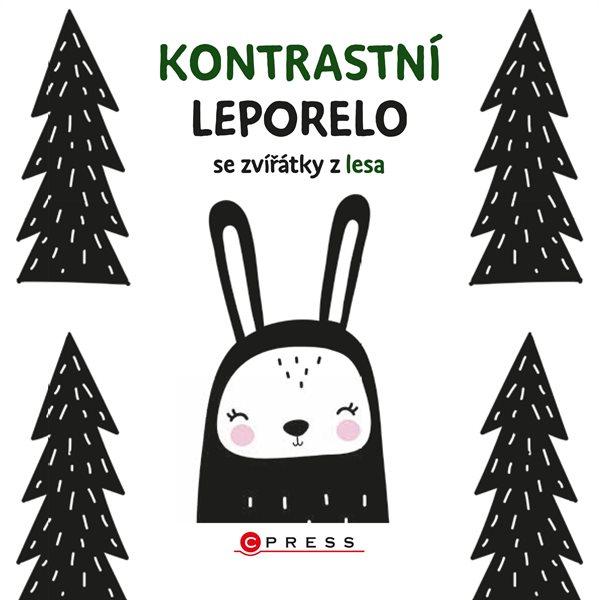 Levně Kontrastní leporelo se zvířátky z lesa - Nathalia Klimentová - 150x150 mm