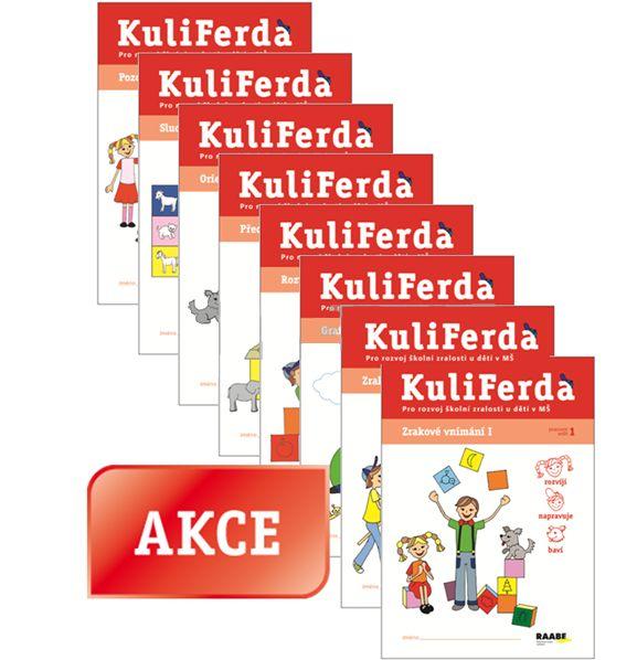 Sada 8 pracovních sešitů pro rozvoj školní zralosti u dětí v MŠ / Kuliferda pracovní sešity - Mgr. Věra Gošová - A4