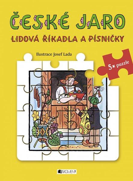 Lidová říkadla a písničky s puzzle - České jaro - Josef Lada - 20x27 cm