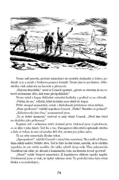 Dvacet tisíc mil pod mořem - Ondřej Neff, Jules Verne - 17x23 cm
