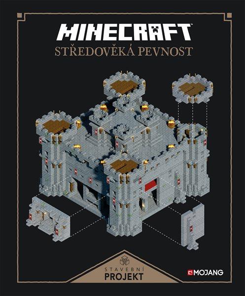Minecraft Stavební projekt Středověká pevnost - 23x28 cm