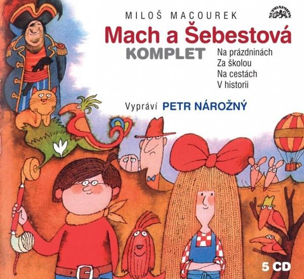 CD Macourek: Mach a Šebestová Komplet - Macourek Miloš - 13x14 cm, Sleva 10%