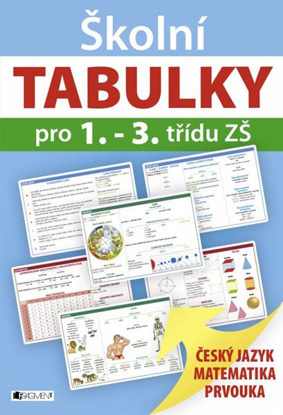 Školní TABULKY pro 1.-3. třídu ZŠ - 20x29 cm