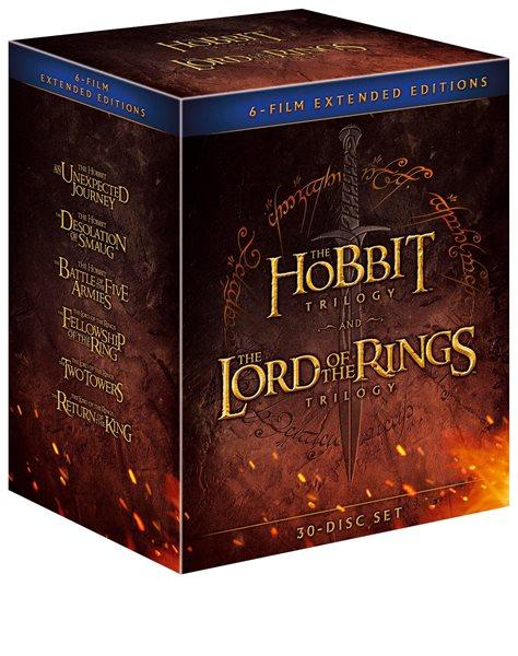 Kolekce Středozemě 18 Blu-ray + 12 DVD bonus, Doprava zdarma