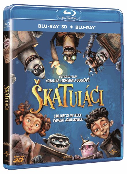 Škatuláci Blu-ray 3D + 2D - Graham Annable, Anthony Stacchi - 13x17 cm