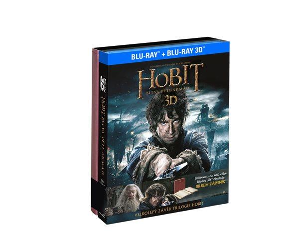 Hobit: Bitva pěti armád 4BD (3D+2D) dárková edice Bilbův zápisník - Peter Jackson - 13x17 cm