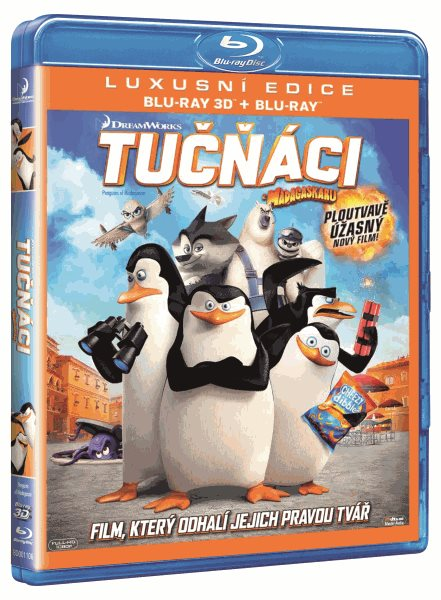 Tučňáci z Madagaskaru 3D+2D Blu-ray - Eric Darnell, Simon J. Smith - 13x17 cm
