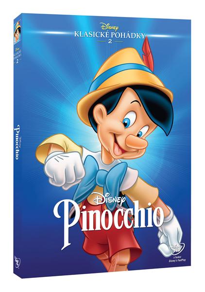 DVD Pinocchio - Hamilton Luske, Ben Sharpsteen - 13x19 cm