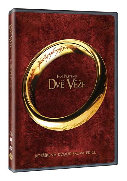 DVD Pán prstenů: Dvě věže - rozšířená dvoudisková edice - Peter Jackson - 13x19 cm