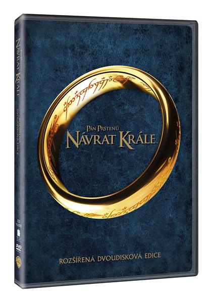 DVD Pán prstenů: Návrat krále - rozšířená dvoudisková edice - Peter Jackson - 13x19 cm