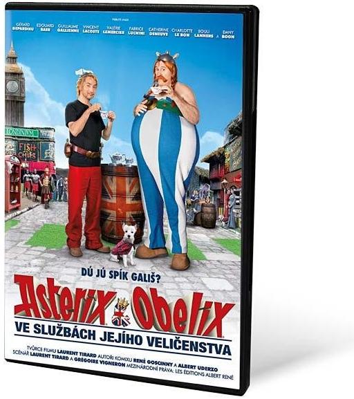 DVD Asterix a Obelix ve službách Jejího Veličenstva - neuveden - 13x19 cm