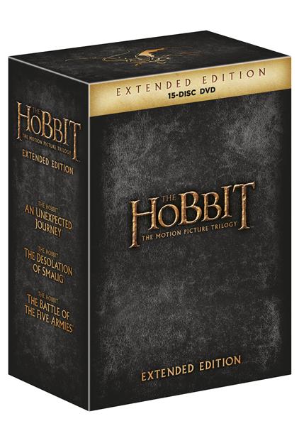 DVD Hobit kolekce 1.-3. - prodloužené verze - 13x19 cm, Doprava zdarma