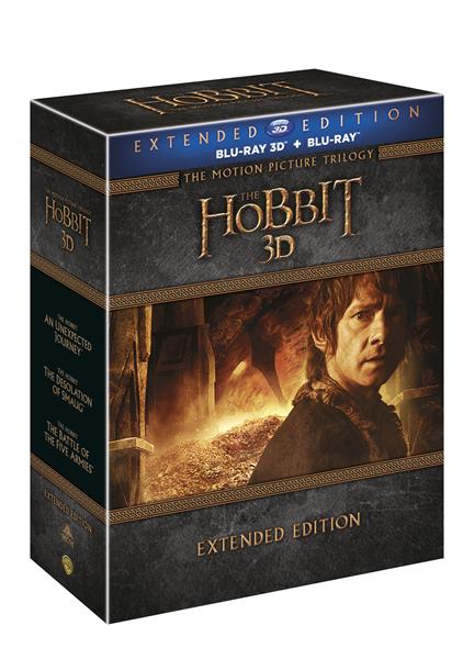 Hobit kolekce 1.-3. - prodloužené verze Blu-ray 2D + 3D - 13x17 cm, Doprava zdarma