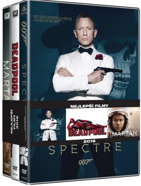 DVD Kolekce Nejlepší filmy 2016: Marťan, Deadpool, Spectre