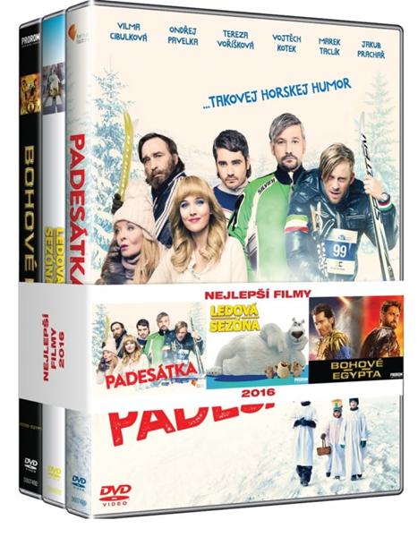 DVD Kolekce Nejlepší filmy: Padesátka, Bohové Egypta, Ledová sezóna