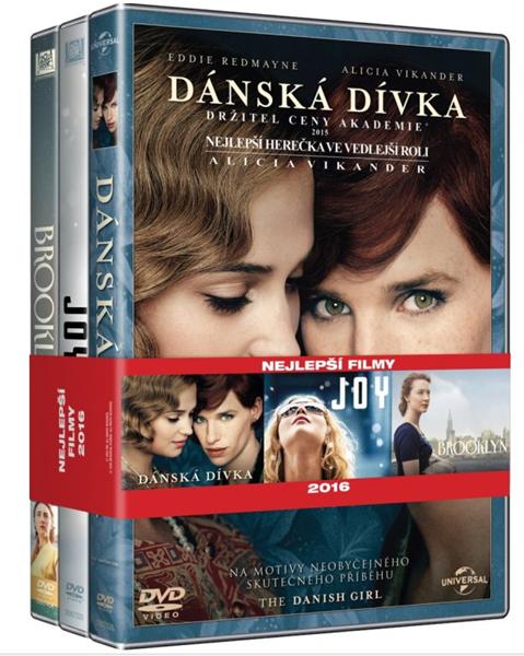 DVD Kolekce Nejlepší filmy: Dánská dívka, Joy, Brooklyn