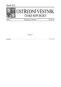 Ústřední věstník ČR 006/2011