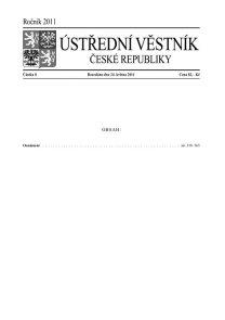 Ústřední věstník ČR 008/2011