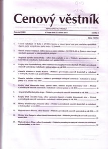 Cenový věstník MF ČR 003/2011