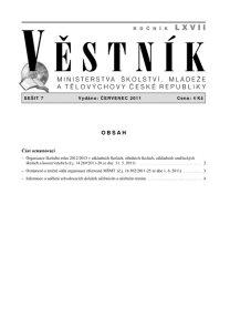 Věstník MŠMT ČR 007/2011