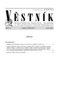 Věstník MŠMT ČR 008/2012
