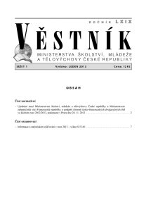 Věstník MŠMT ČR 001/2013