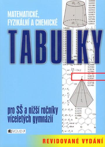 Matematické, fyzikální a chemické tabulky - Květoslava Růžičková, Bohumír Kotlík, Zdeněk Vošický, Vladimír Lank, kolektiv autorů - 17x24 cm