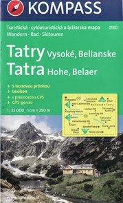 Tatry - Vysoké, Belianské - mapa Kompass2130 - 1:25t