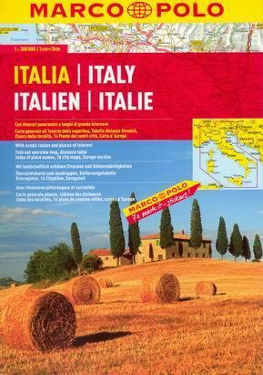 Itálie - autoatlas MarcoPolo - 1:300 000 - A4, 184 stran, spirálová vazba