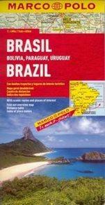 Brazílie, Bolívie, Paraguay, Uruguay - mapa MP 1:4m