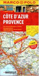 Francie - Azurové pobřeží, Provence - mapa Marco Polo - 1:200 000
