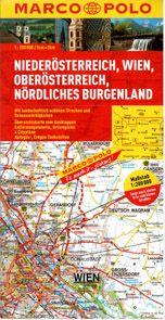 Rakousko 1- Niederösterreich, Wien, Oberösterreich, sever.Burgenland - mapa Marco Polo - 1:200 000