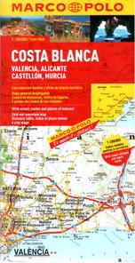 Španělsko - Costa Blanca - mapa Marco Polo - 1:200 000