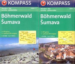 Šumava - set map Kompass č.2000 - 1:50 000