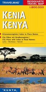 Keňa - mapa Kunth - 1:800t.