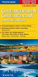 Chille, Argentina - mapa Kunth - 1:4mil.
