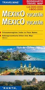 Mexiko, Yukatán - mapa Kunth - 1:4mil.,1:800t.