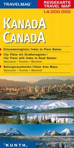 Kanada - mapa Kunth - 1:4mil.