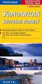 Norsko - jižní - mapa Kunth - 1:300 000