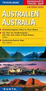 Austrálie - mapa Kunth - 1:4mil.