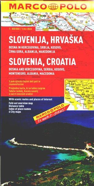 Slovinsko, Chorvatsko - mapa MP 1:800 000 - 130 x250 x 12mm