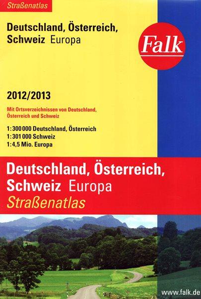 Německo, Rakousko, Švýcarsko autoatlas 2012/2013 - A4