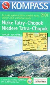 Nízké Tatry - Chopok - mapa Kompass2101 - 1:50t