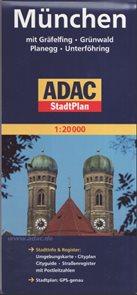 Mnichov mapa ADAC 1: 20 tis.